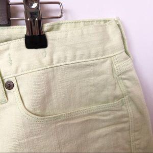 Madewell Shorts - NWT Madewell Light Green Cuffed Shorts • Size 32
